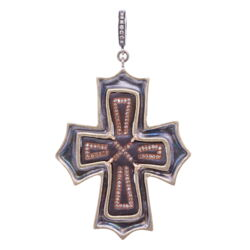 Closeup photo of Ancient Byzantine Cross Pendant
