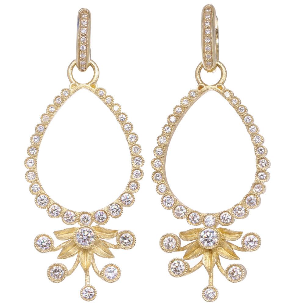 Diamond Flower Burst Earring Charm Frames