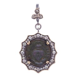 Closeup photo of Ancient Sacred Heart Pendant