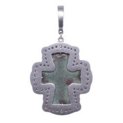 Closeup photo of Byzantine Artifact Cross Pendant