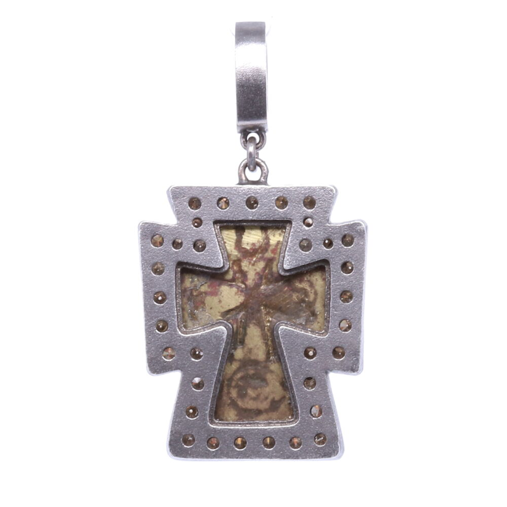 Image 2 for Antique Russian Orthodox Cross Pendant
