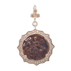 Closeup photo of Antique St. George Pendant