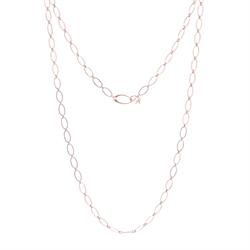 "Closeup photo of Rose Flat Link Chain 40"""