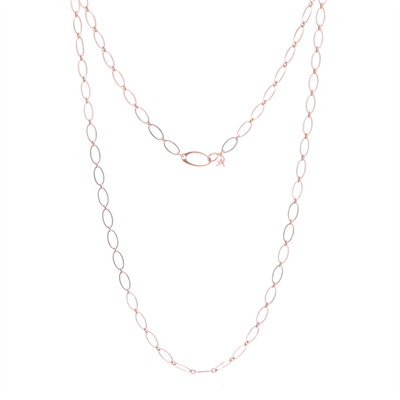 "40"" Rose Gold Oval Link Necklace"
