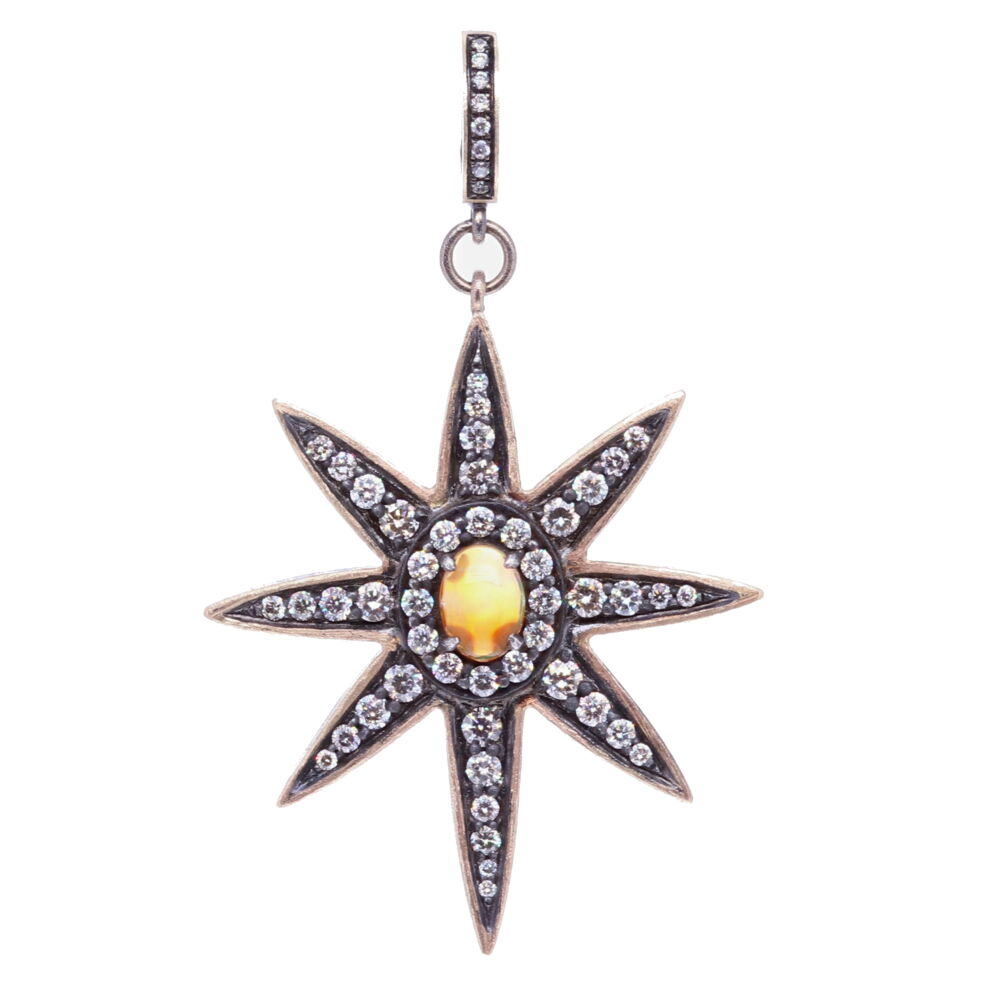 Large North Star Opal Pendant