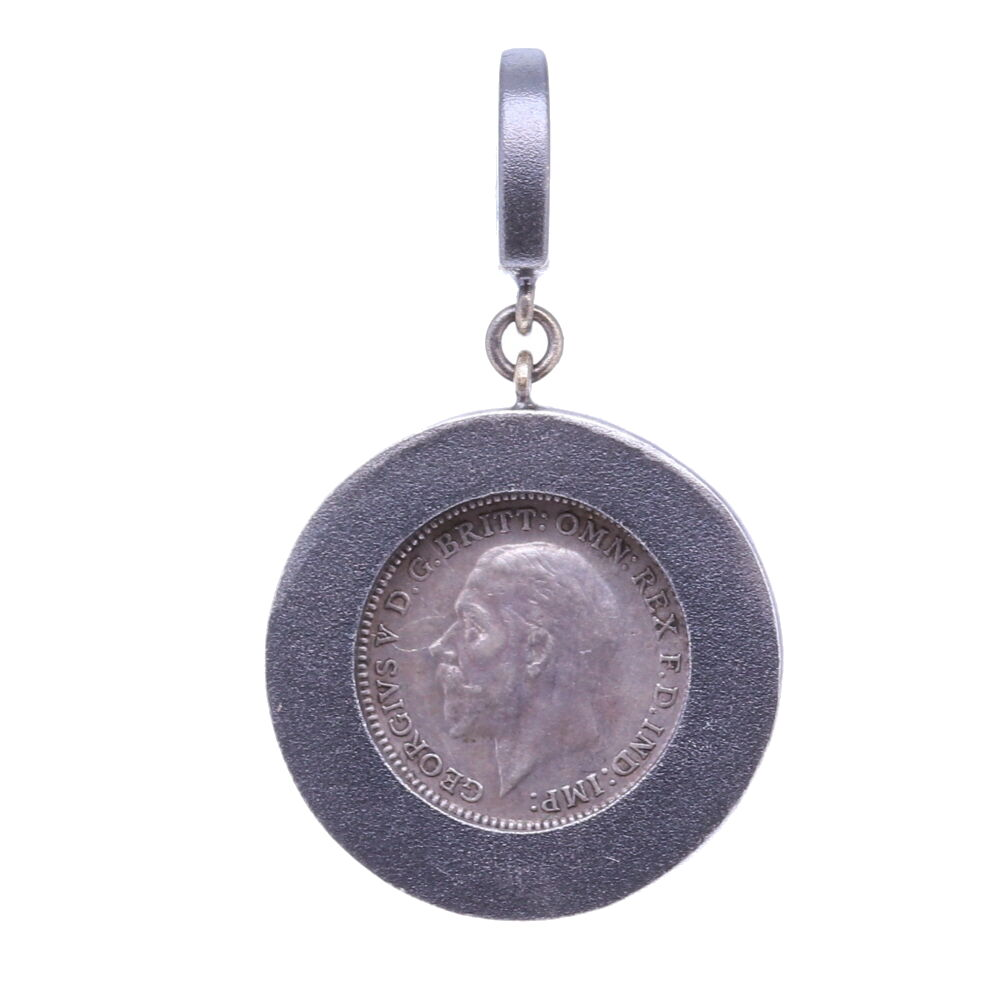 "Image 2 for Love Token Pendant Engraved with ""F"""