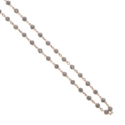 Closeup photo of Black Diamond Sphere Chain 17""