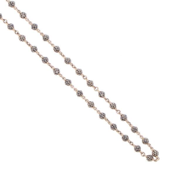 "Closeup photo of Black Diamond Sphere Chain 17"""