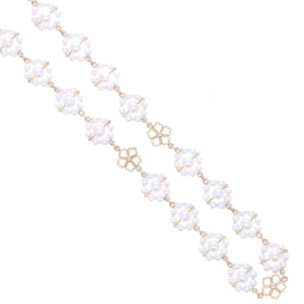 Image 2 for Limited Edition Akoya Pearl Flower Necklace 27""