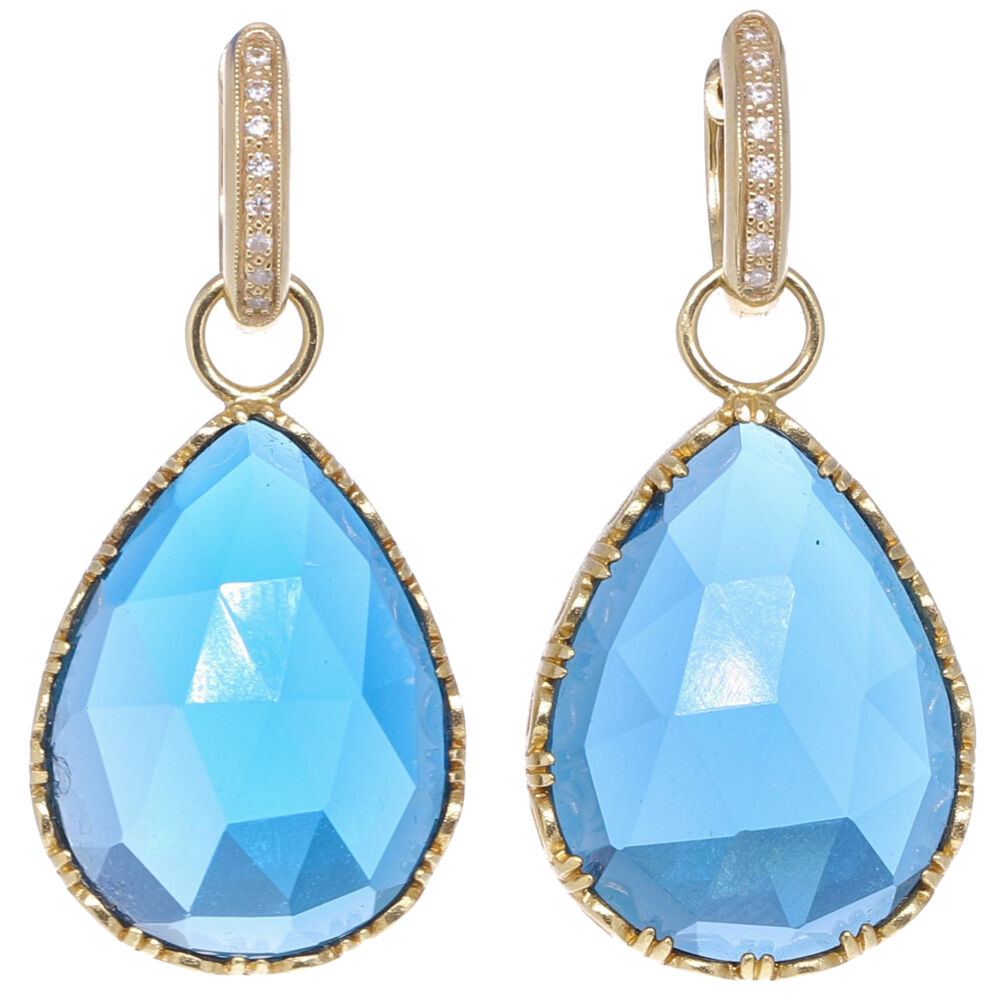 Cecilia London Blue topaz Pear Shaped Earring Charms