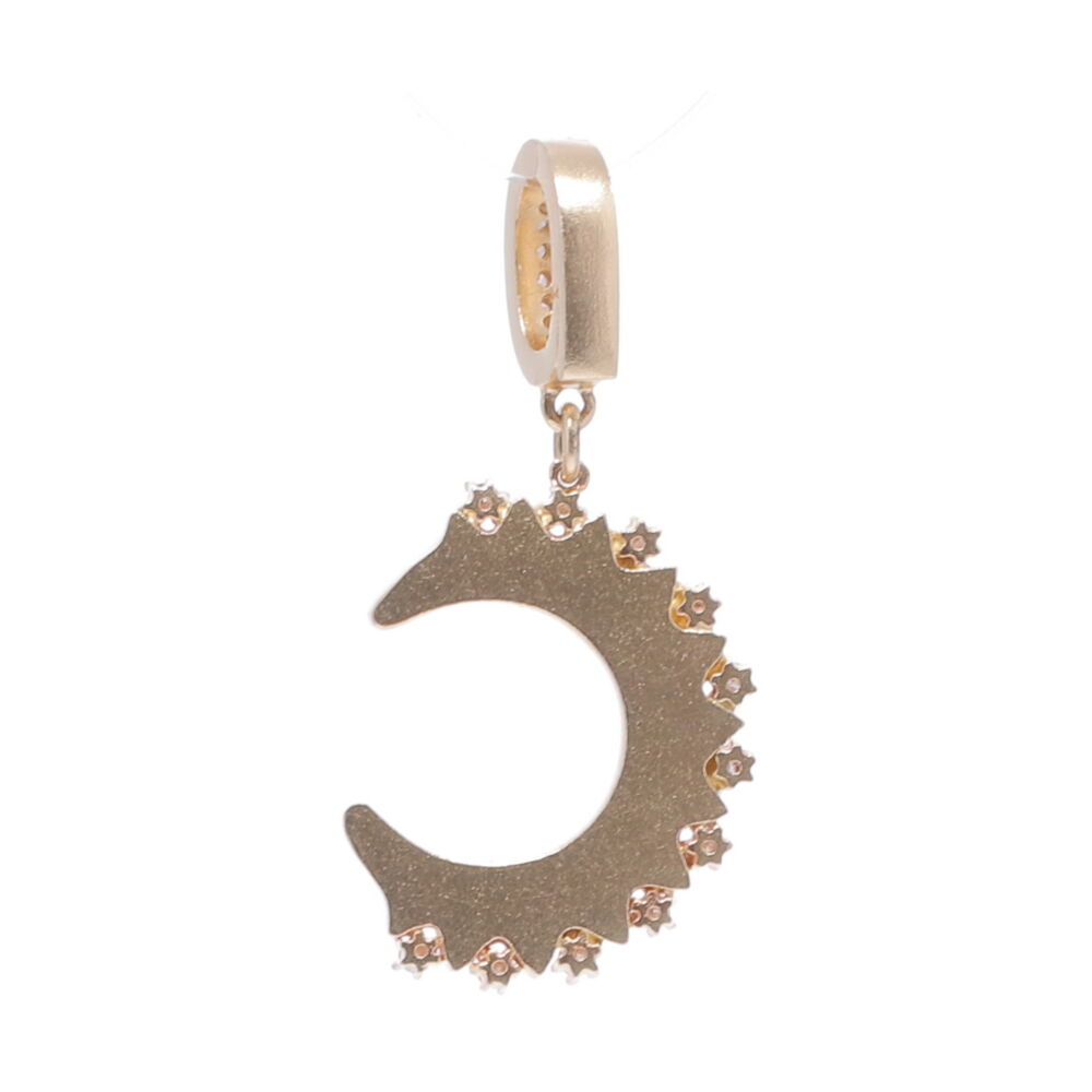 Image 2 for Yellow Gold Crescent Moon