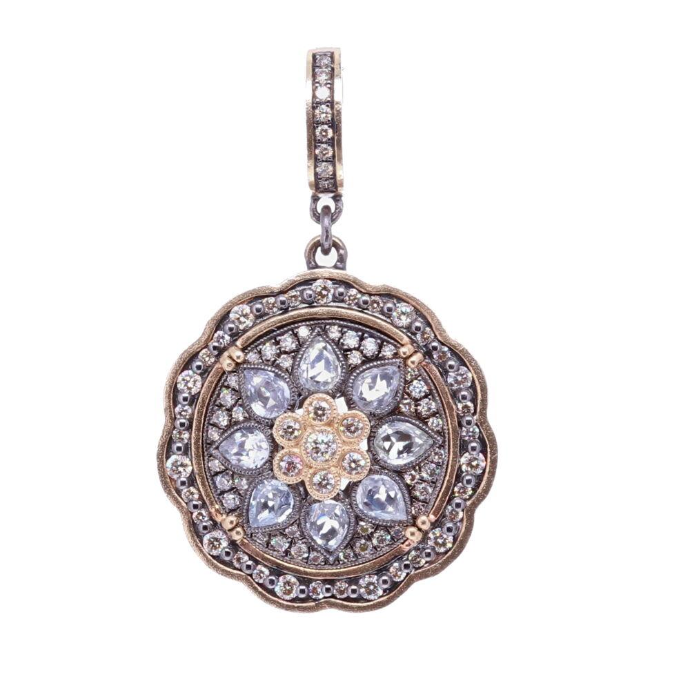 White Sapphire Bloom Pendant