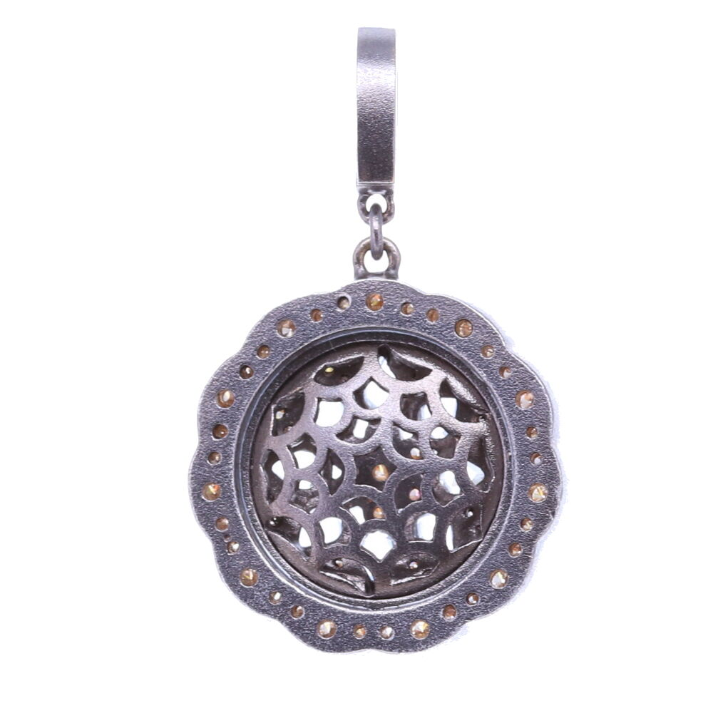 Image 2 for White Sapphire Bloom Pendant