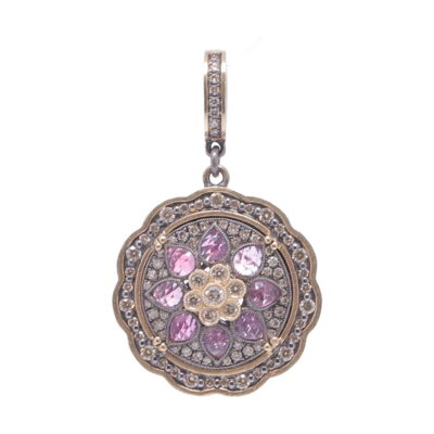 Closeup photo of Pink Sapphire Bloom Pendant