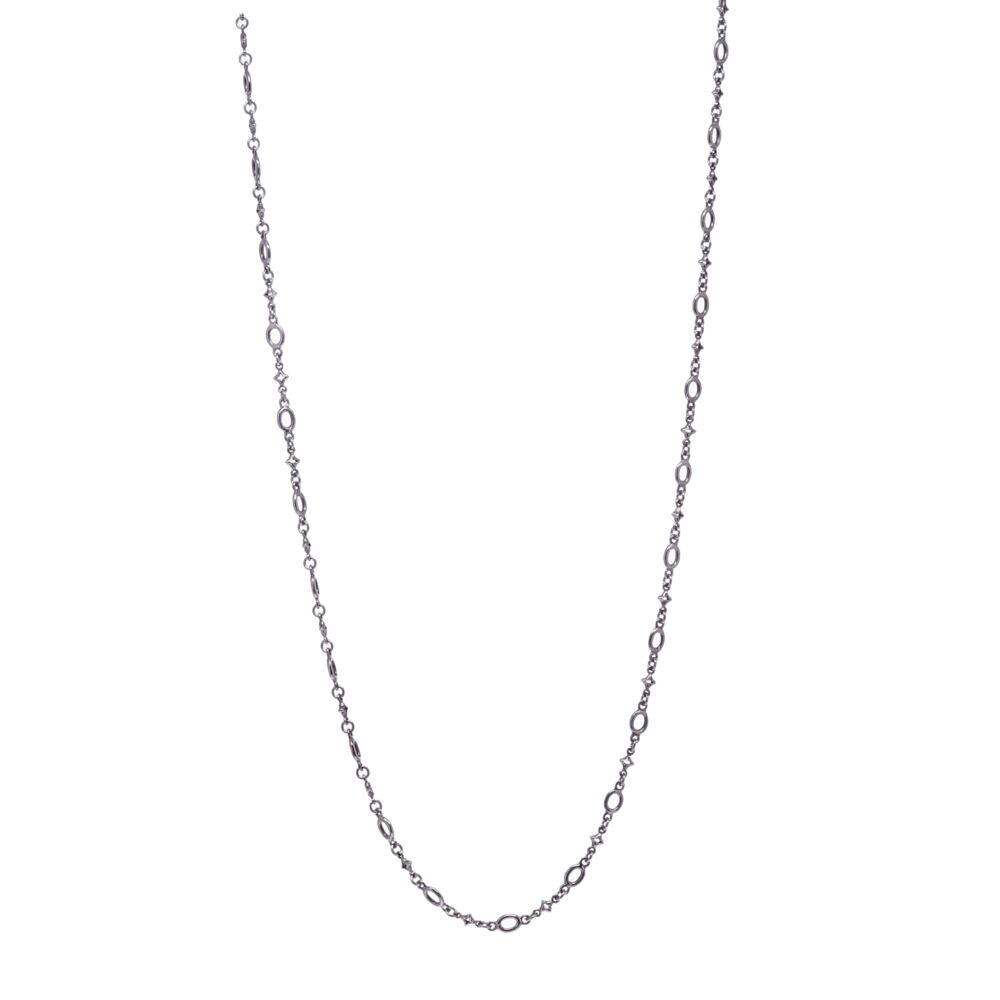 Polished Oval & Tiny Star Link Chain