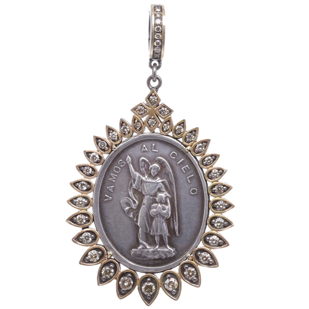 Spanish Silver Guardian Angel Pendant