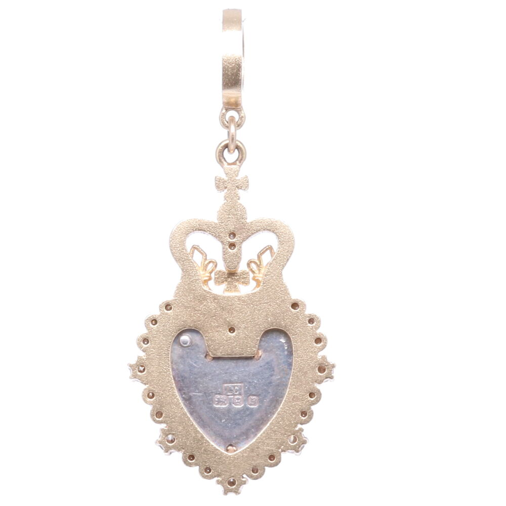 Image 2 for Antique Padlock Heart with Crown Pendant