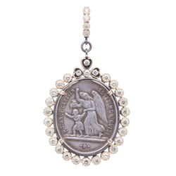 Closeup photo of French Guardian Angel Pendant