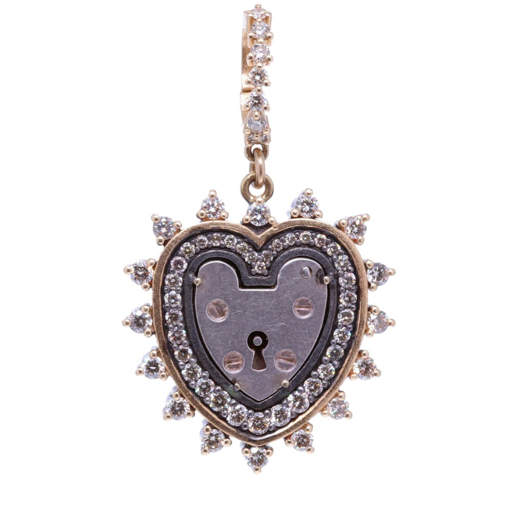 Heart Shaped Vintage Padlock