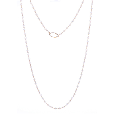"""Closeup photo of Limited Edition Mini Akoya Pearl Necklace 36"""""""