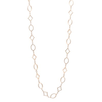 """Closeup photo of Limited Edition Yellow Gold Star Link Chain 18"""""""