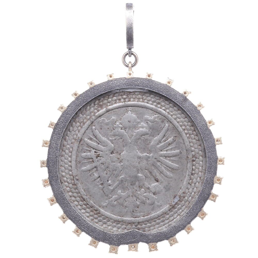 Image 2 for Russian Maltese 1700's Coat of Arms Pendant