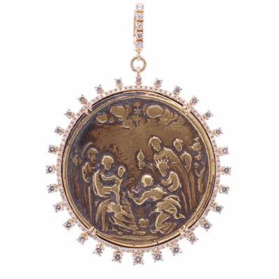 19th Century Spanish Nativity & Baptism Medal