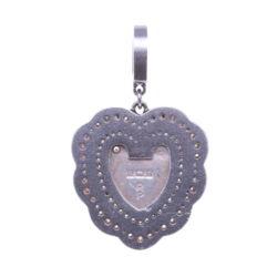 Closeup photo of Vintage English Heart Padlock Pendant