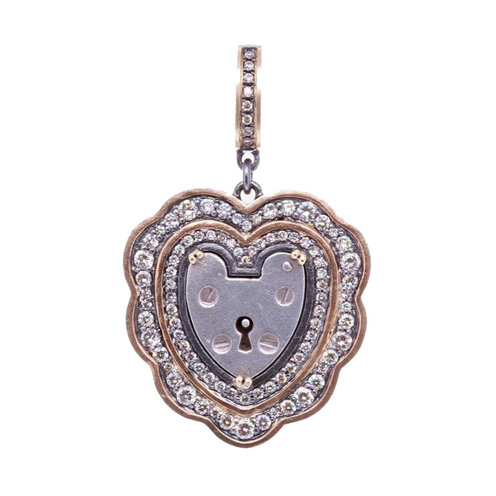 Vintage English Heart Padlock Pendant
