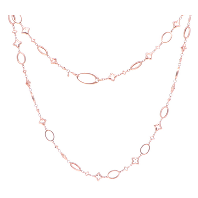 Rose Gold Oval Star Necklace