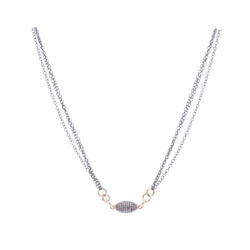 Closeup photo of Pave bead dia neck