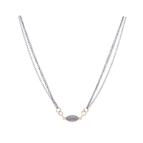 Closeup photo of Pave bead dia neck