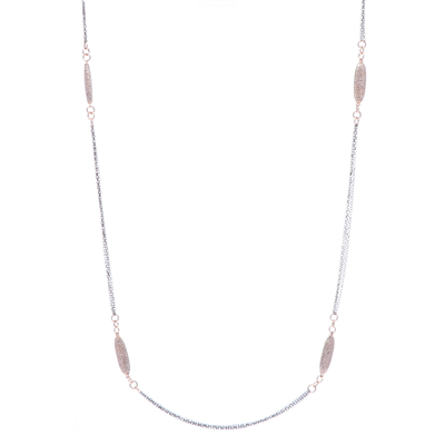 """Closeup photo of Limited Edition Rose Oblong Diamond Chain 34"""""""