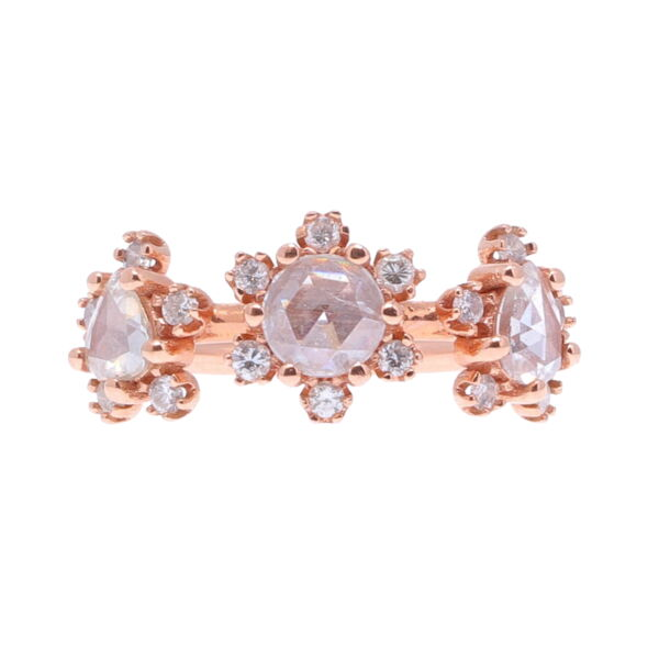 Closeup photo of In Bloom Rose Cut Diamond Ring