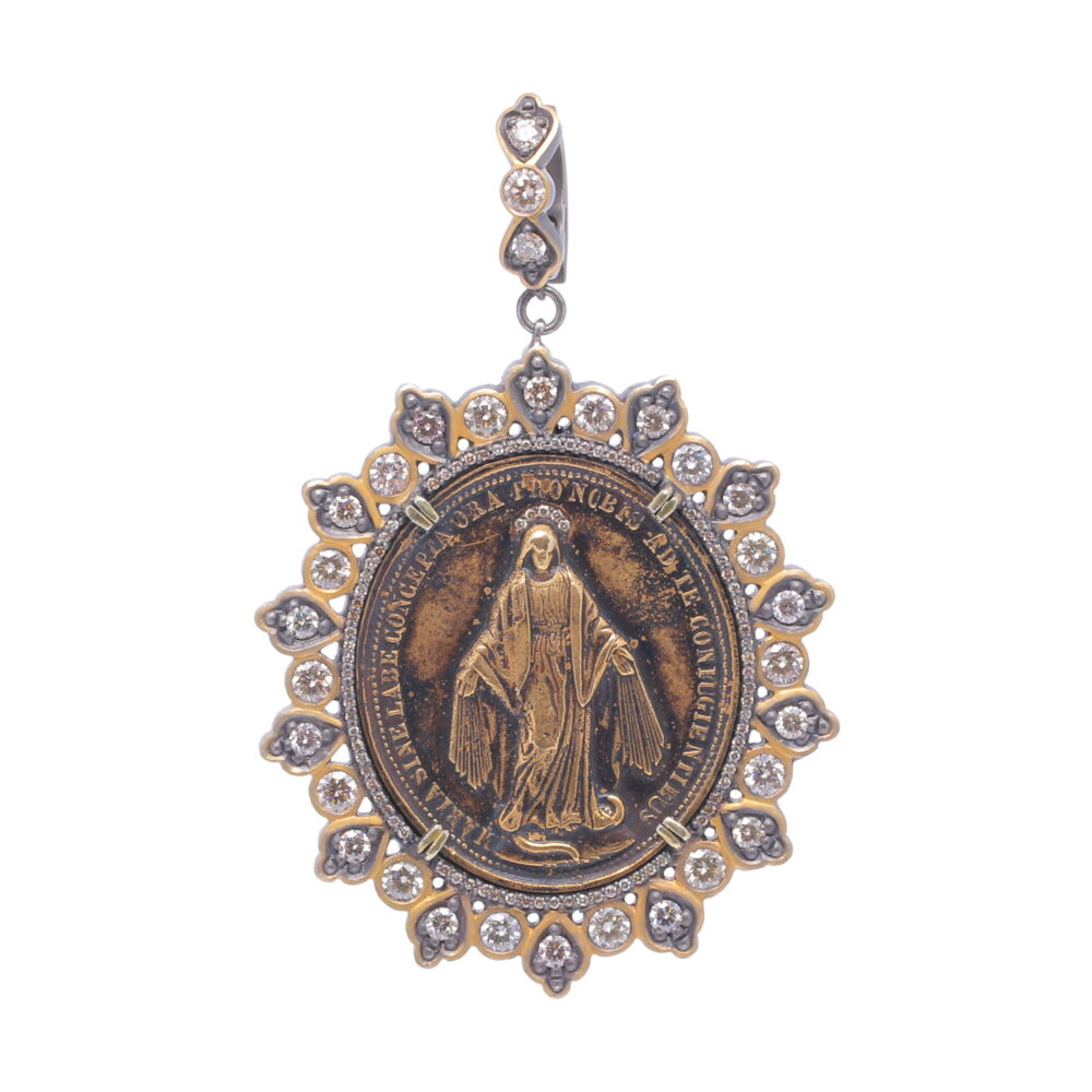 Latin Miraculous Mary Medal
