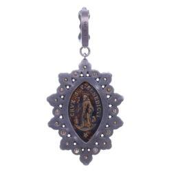Closeup photo of Antique Marquis St. Benedict Pendant