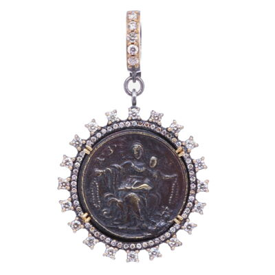 Closeup photo of 16th C. French St. Vincent Pendant