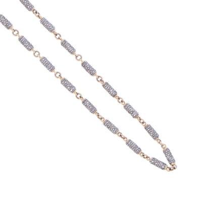"Closeup photo of Diamond Link Chain 15.5"""