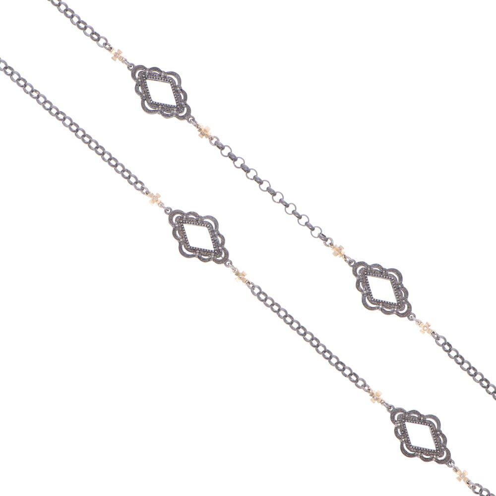 """Image 2 for Scalloped Abstract Chain with Crosses 26"""""""