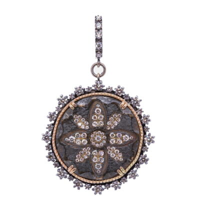 Closeup photo of 16th C. Medieval Flower Pendant