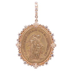 Closeup photo of German Guardian Angel Pendant