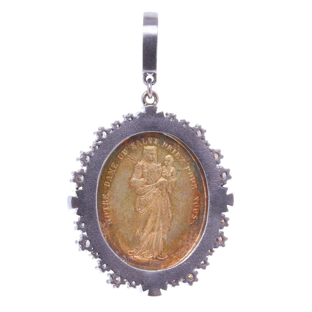 Image 2 for French Notre Dame Pilgrimage Pendant