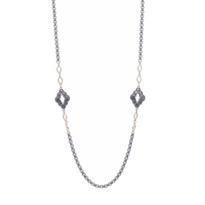 """Closeup photo of Marquise Layering Chain 34"""""""