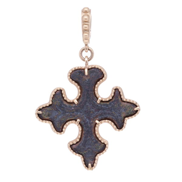 Closeup photo of Ancient Maltese Cross Pendant