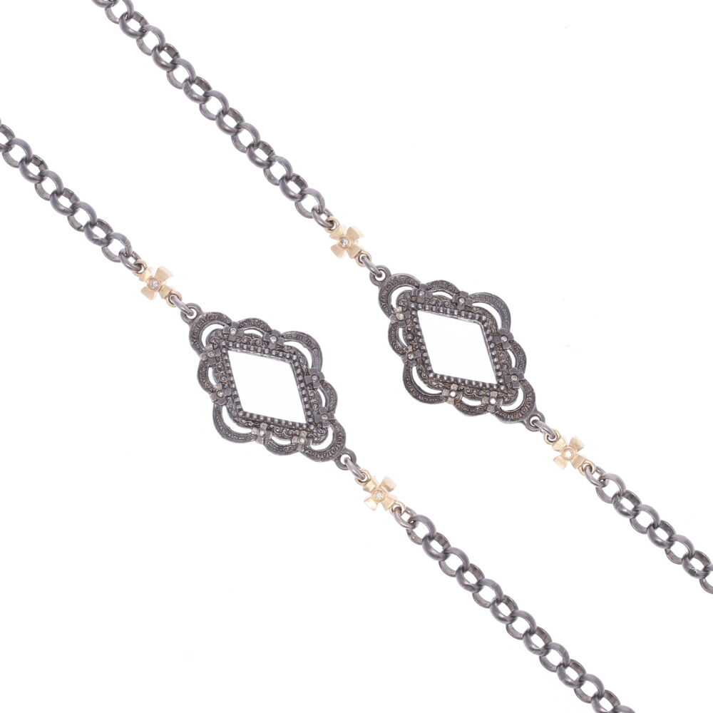 Image 2 for Scalloped Abstract Chain with Crosses