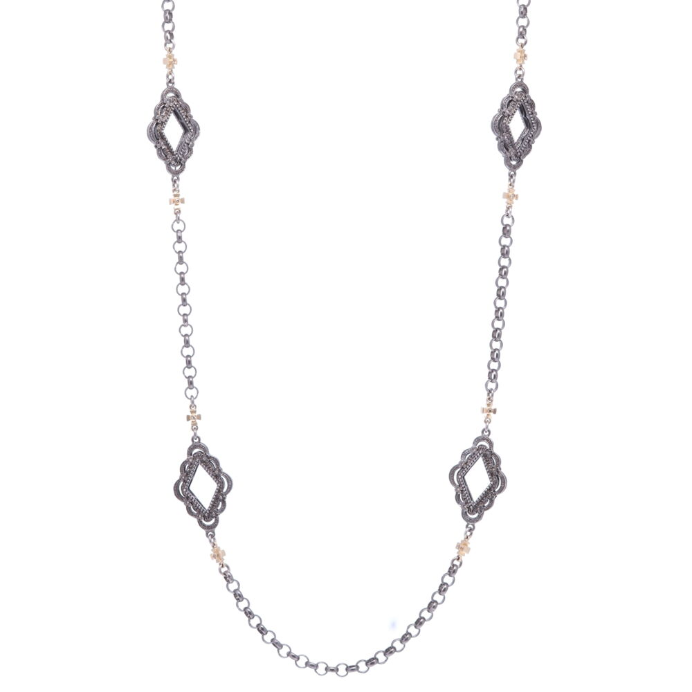 Scalloped Abstract Chain with Crosses