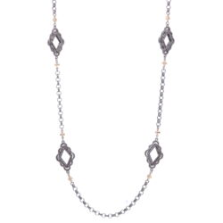 Closeup photo of Scalloped Abstract Chain with Crosses