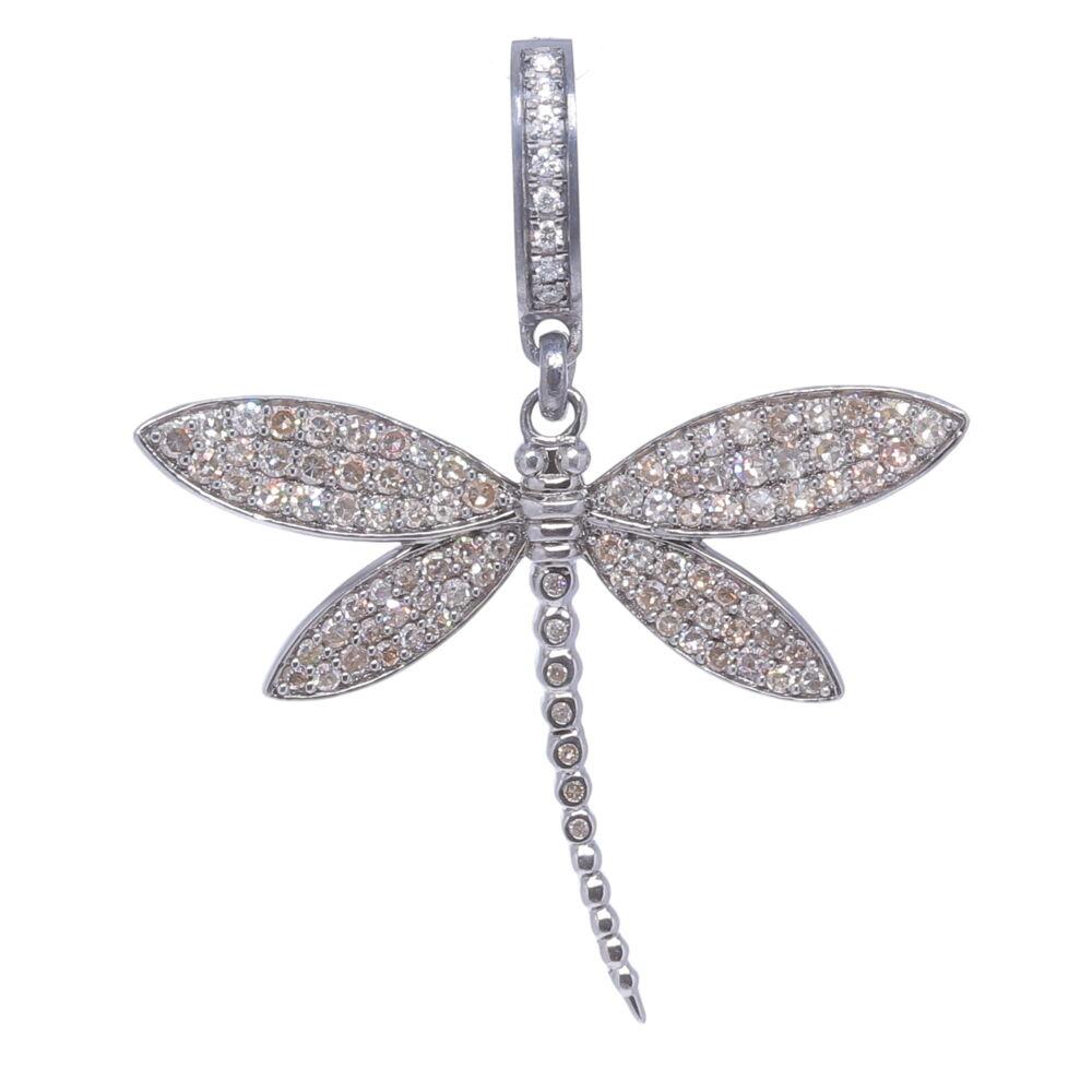 Image 2 for Dragonfly Diamond Pendant