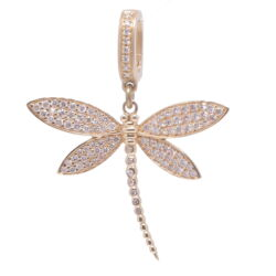 Closeup photo of Dragonfly Diamond Pendant