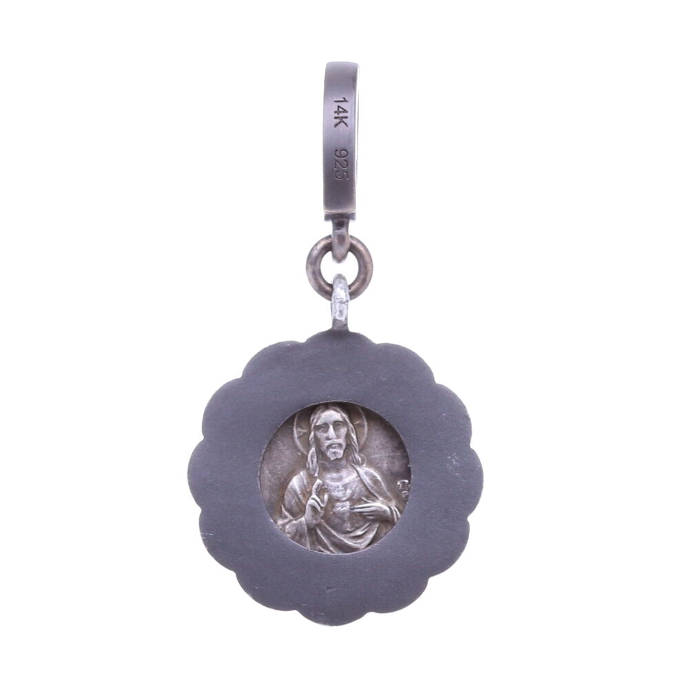 Image 2 for Tiny Mary and Child Medal Pendant